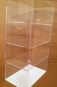 Acrylic Countertop Display Case 12 x9 x 20 5 Show Case Select Shelves No Door