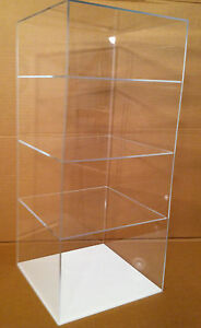 Acrylic Counter Top Display Case 9 X 9 X 20 5 Showcase select Shelves No Door