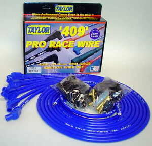 Taylor 409 Pro Race 10 4mm Blue 135 Degree 8 Cyl Wires