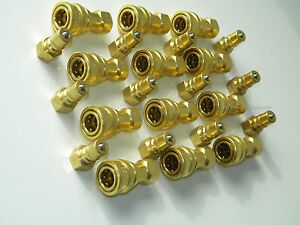 Carpet Cleaning 1 4 Brass Truckmount Quick Disconnect For Wands Hoses