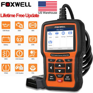 Full System Abs Airbag Auto Obd2 Code Reader Scanner Foxwell Nt510 For Bmw Mini