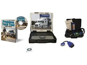 Mack Volvo Premium Tech Tool Diesel Diagnostic Laptop Kit Ptt Nexiq Usb Link 2