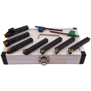 Pro series 7 Piece 3 8 Indexable Cut Off Turning Tool Set 2002 0112