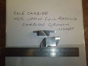 4 Cole Carbide Ng 100 Wide Full Radius Top Notch Style Carbide Grooving Insert