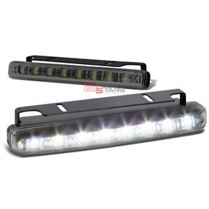 Universal 6 25 8 Smoke Smd Led Drl Fog Bumper Slim Lamp Light Bar Car Truck Suv