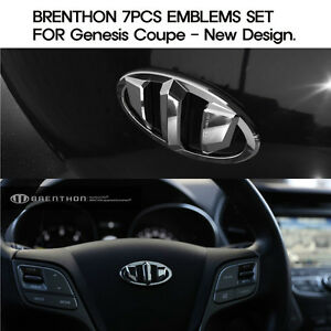 Brenthon Emblems 7pcs Set Fits Hyundai Genesis Coupe 2010 2012