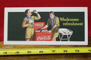 1942 Coca Cola Bottle Ink Blotter Wholesome Refreshment