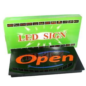 Led Neon Open Business Sign For Bar Restaurant Cafe Horizontal Upscale