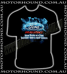 Ford Falcon Xr8 Xr6 Turbo 351 T shirt Built Ford Tough Piston Con Rods L Xl Xxl