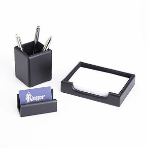 Royce Leather Desk Organizer Note Tray And Business Card Holder Genuine Suede