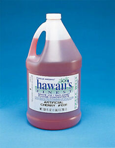 Snow Cone Shaved Ice Syrup Concentrate 1031ga Cherry Flavor 1 Gal 32 Gallons