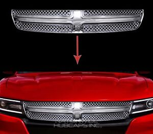 Fits Dodge Charger 2015 19 Chrome Grille Overlay Front Full Grill Inserts Covers