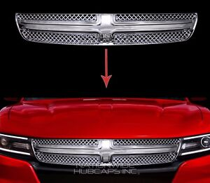 2015 16 2017 Dodge Charger Chrome Grille Overlay Front Full Grill Inserts Covers