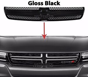 2015 17 Dodge Charger Gloss Black Grille Overlay Front Full Grill Inserts Covers
