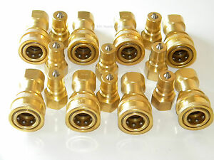 Carpet Cleaning Brass 1 4 Quick Disconnect set Of 8 For Wand Hoses