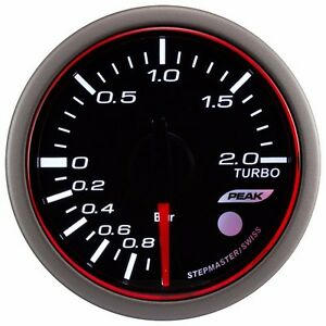 52 Mm 3 Colors Led Auto Electrical Turbo Boost Gauge Warning Peak bar