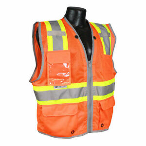 Radians Sv6ho Safety Hi viz Class 2 Heavy Duty Two tone Surveyor Vest Pack Of 4