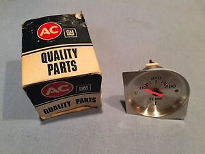 Ac Delco Gm Temperature Gauge Chevy Buick Pontiac Olds Cadillac Rat Rod Hot Rod