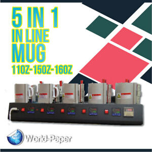 5 In 1 Digital Transfer Heat Press Machine Sublimation Mug Cup