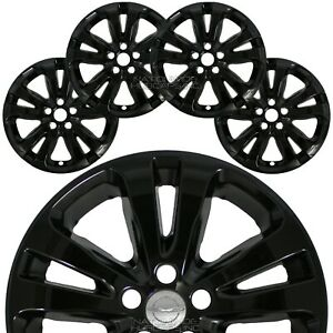 4 Fits Chrysler 200 2015 16 2017 Gloss Black 17 Wheel Skins Rim Covers Hub Caps