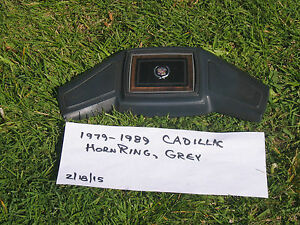 1977 1989 Cadillac Horn Ring drk Grey horn fleetwood deville steerng Whl Center