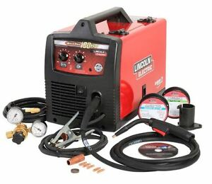 Portable Weld pack Hd180 Wire Feed Welder Lincoln Electric 230v Flux Cored