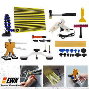 Ewk Paintless Car Dent Repair Removal Kit Pdr Line Board Glue Tab Pulling Tool