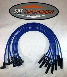 Ford Fe Hei 332 352 360 390 406 427 428 Blue 8mm Silicone Spark Plug Wires