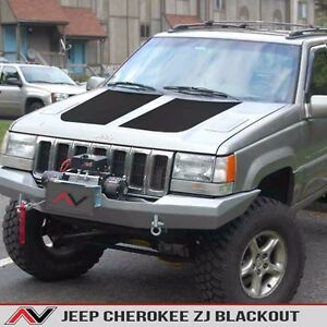Hood Blackout Matte Black Free Shipping Fits Jeep Grand Cherokee Zj 1993 1998
