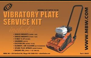 Mbw Plate Compactor Gp ap 12 15 And 18 Service Kit W honda Engine New Style 2333