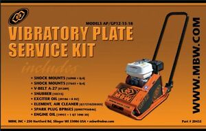Mbw Plate Compactor Gp ap 12 15 And 18 Service Kit W honda Engine Old Style 2331