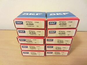 Skf 608 2rsjem Sealed Deep Groove Ball Bearings lot Of 10