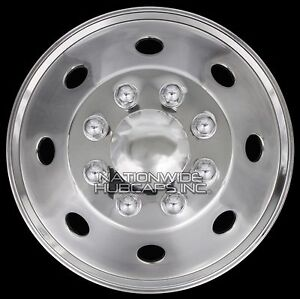1 16 Stainless Steel Truck Van Trailer Dual Wheel Simulators Rim Hub Cap Covers