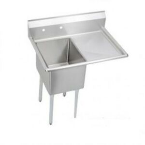 Stainless Steel 39 X 27 1 Single One Compartment Sink W Right Drainboard Nsf