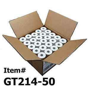 50 Thermal Paper Rolls 2 1 4 X 50 Verifone Vx520 First Data Fd400 Nurit 800