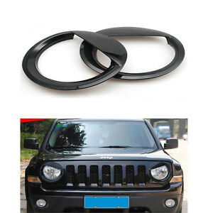 Jeep Patriot Angry Bird Style Bezels Front Light Headlight Trim Cover Pair