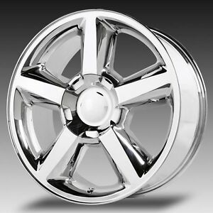 4 New 20x8 5 Chevrolet Ltz Wheels Chrome Oe Tahoe Gmc