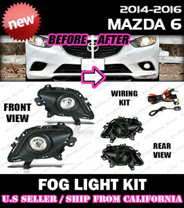 14 15 16 17 Mazda 6 Fog Light Driving Lamp Kit W Switch Wiring clear