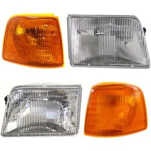 Headlight Headlamp Corner Parking Lights Left Right Set Kit For 93 97 Ranger