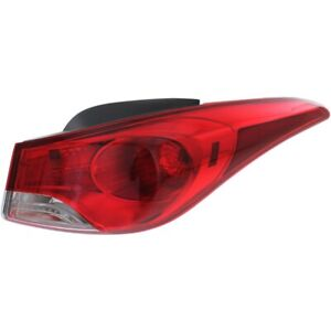 Tail Light For 2011 2013 Hyundai Elantra Rh Outer Body Mounted