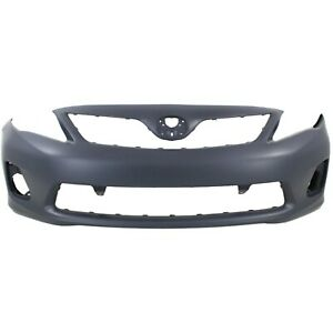 Bumper Cover For 2011 2013 Toyota Corolla Base Ce L Le Usa Built Primed Front