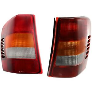 Pair Tail Light For 2002 2004 Jeep Grand Cherokee Driver Passenger Side