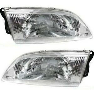 Headlight Set For 98 99 Mazda 626 Left And Right With Bulb 2pc