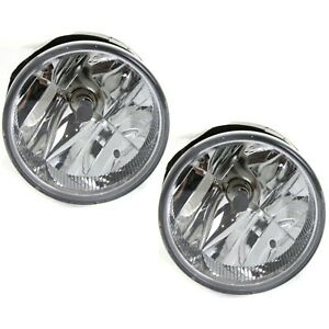 Set Of 2 Clear Lens Fog Light For 2004 Jeep Grand Cherokee Lh Rh Capa W Bulbs