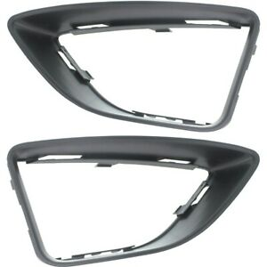 Fog Light Trim Set For 2010 2012 Ford Fusion Left Right Lamp Molding 2pc