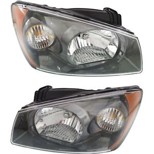 Headlight Set For 2004 2005 2006 Kia Spectra Left And Right With Bulb 2pc