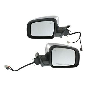Mirror Power Set For 2011 2016 Jeep Grand Cherokee With Memory Chrome