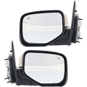 Mirror Set Of 2 For 2006 2014 Honda Ridgeline Heated Primed Left And Right