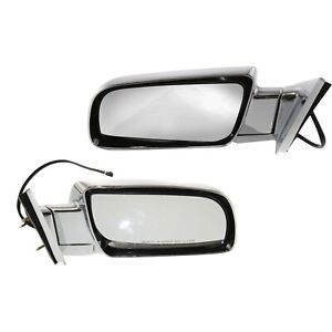 Side View Mirrors Power Folding Chrome Pair Set For Chevy Gmc C k Suburban