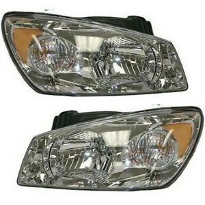 Headlight Set For 2004 2005 Kia Spectra Sedan Left And Right With Bulb 2pc
